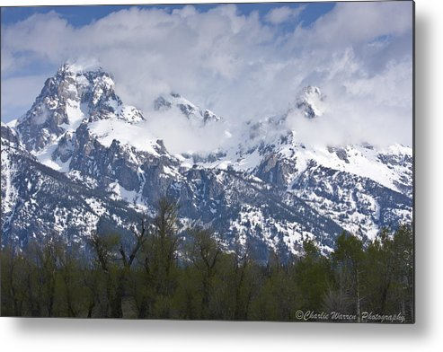 Grand Tetons Metal Print featuring the photograph Skyscapers by Charles Warren