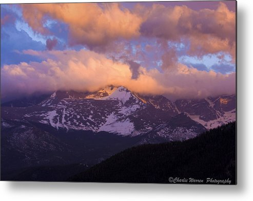 Sunset Metal Print featuring the photograph Sunset Over The Rockies by Charles Warren