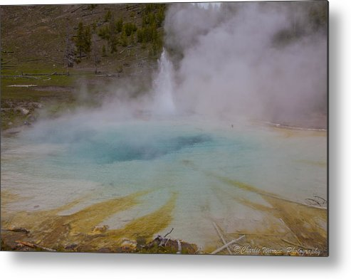 Yellowstone Metal Print featuring the photograph Superior Geyser 1 by Charles Warren