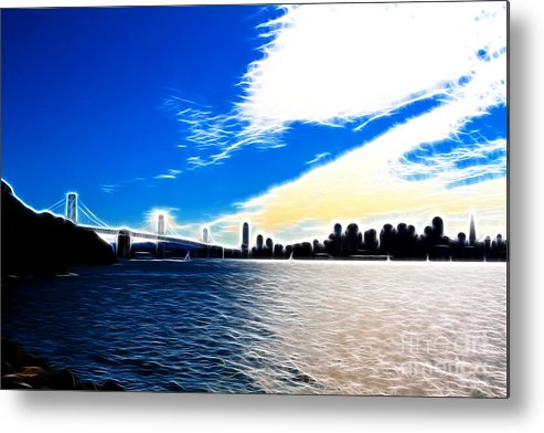 San Francisco Metal Print featuring the photograph The City By The Bay by Wingsdomain Art and Photography