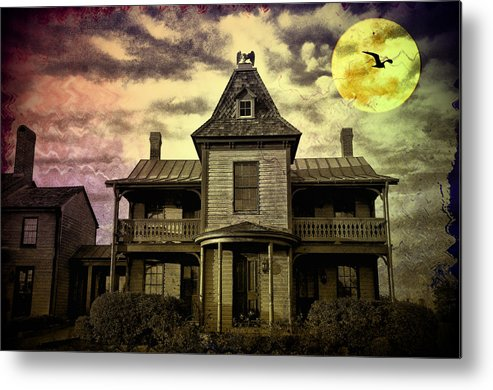 Haunted Metal Print featuring the photograph The Haunted Mansion by Bill Cannon
