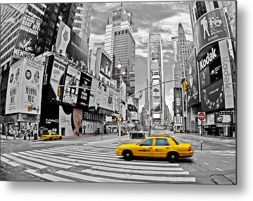 Times Square Metal Print featuring the photograph Times Square - New York by Marcel Schauer