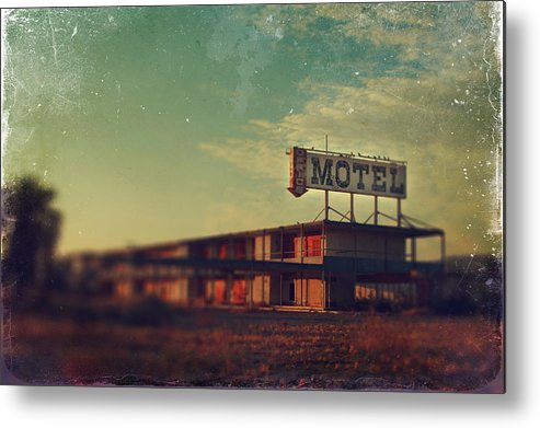 Motel Metal Print featuring the photograph We Met At The Old Motel by Laurie Search