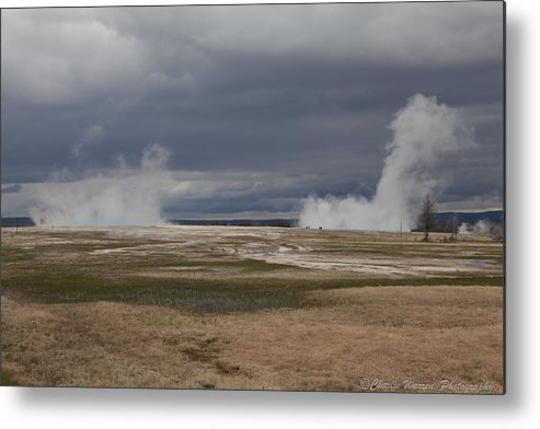 Geyser Metal Print featuring the photograph Yellowstone Geysers2 by Charles Warren