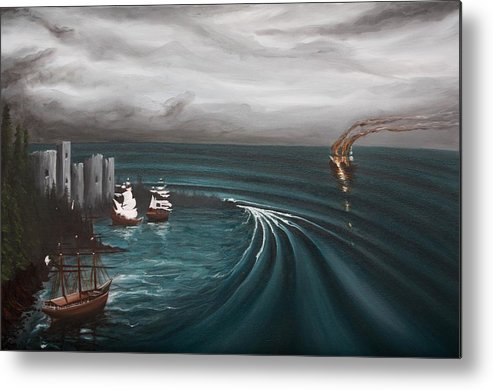 Surf Metal Print featuring the painting Castaway by Ronnie Jackson