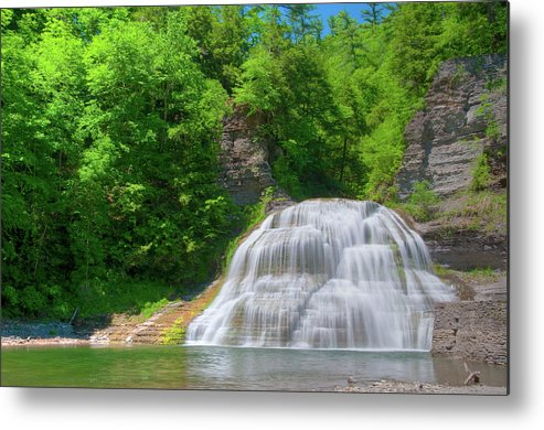 Waterfalls Metal Print featuring the photograph Lower Falls 0485 by Guy Whiteley