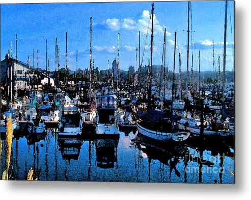 Capital Metal Print featuring the photograph Percival Landing by Larry Keahey