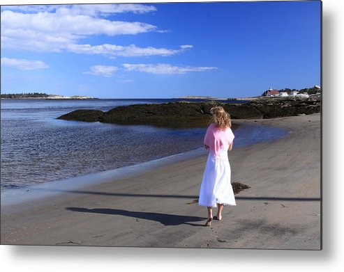 Female Metal Print featuring the photograph Seascape by Tom Johnson