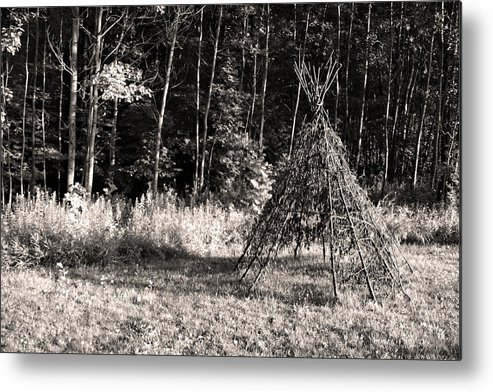 American Indian Metal Print featuring the photograph Tee Pee by Joanne Coyle