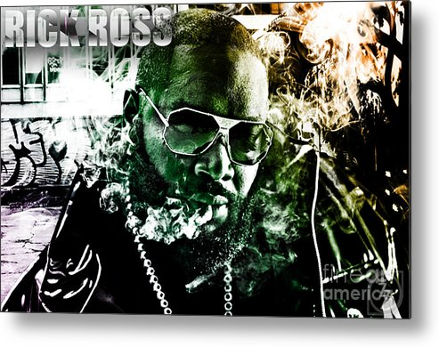 Rick Ross Metal Print featuring the digital art Rick Ross by The DigArtisT