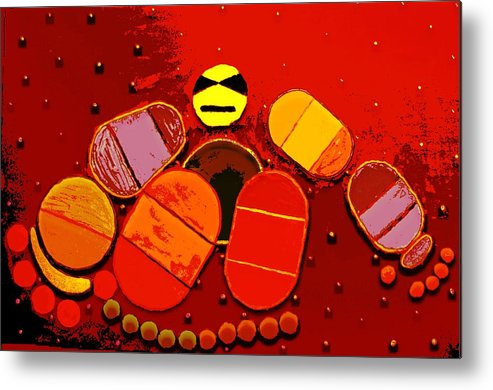 Metal Print featuring the painting Abstract by Jason Gauvreau