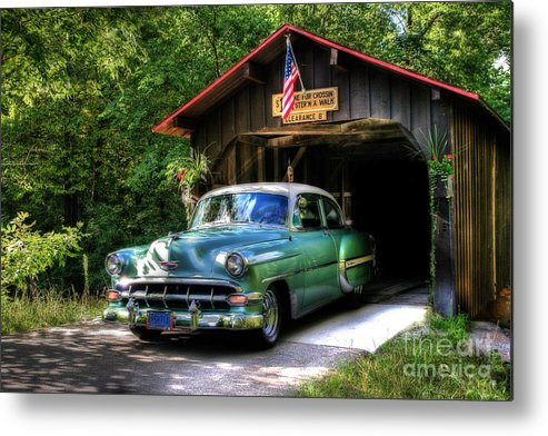 50 Metal Print featuring the photograph 54 Chevy by Joel Witmeyer