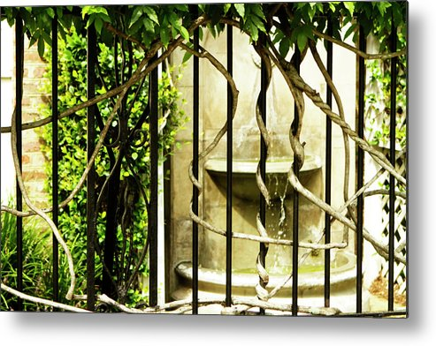 Photo Metal Print featuring the photograph A Small Fountain by Alan Hausenflock