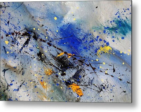 Abstract Metal Print featuring the painting Abstract 969090 by Pol Ledent