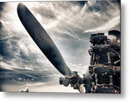 Airplane Metal Print featuring the photograph Aero Machine by Nathan Larson