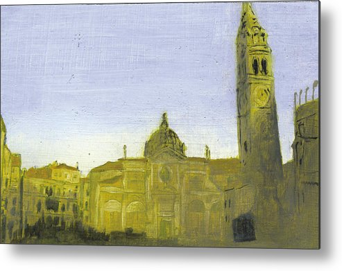 Landscape Metal Print featuring the painting After Campo Santa Maria Formosa by Hyper - Canaletto