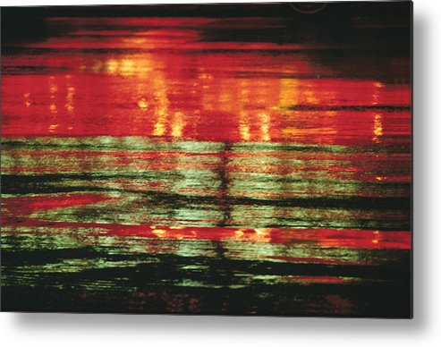 Abstract Metal Print featuring the photograph After The Rain Abstract 1 by Tony Cordoza