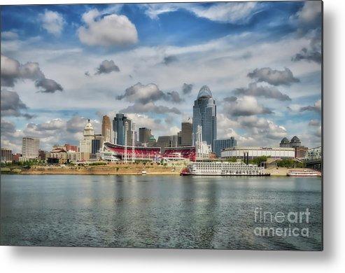 Cincinnati Metal Print featuring the photograph All American City 2 by Mel Steinhauer