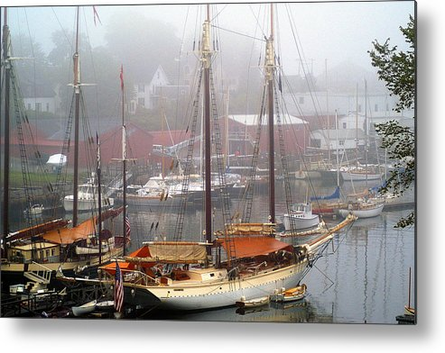 Boats Metal Print featuring the photograph All Dressed Up...nowhere To Go by Neil Doren