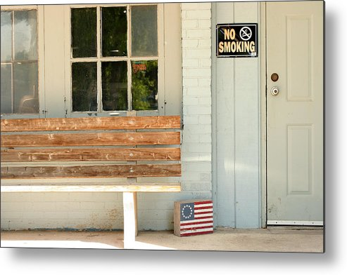 Flag Metal Print featuring the photograph America No Smoking by Steve Augustin