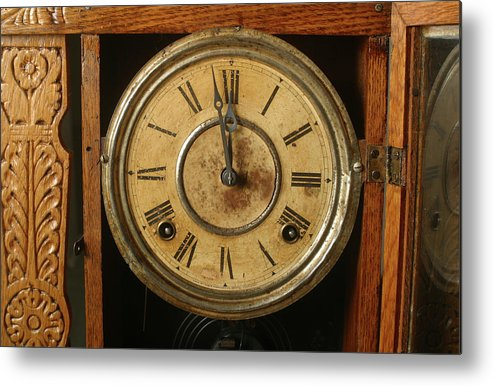 Horizontal Metal Print featuring the photograph Antique Clock 3 by Jack Dagley