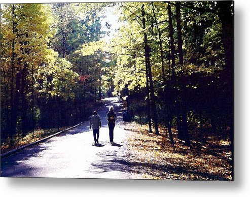 Autum Metal Print featuring the photograph Autum Walking 2 Wcaedb2 by Lyle Crump