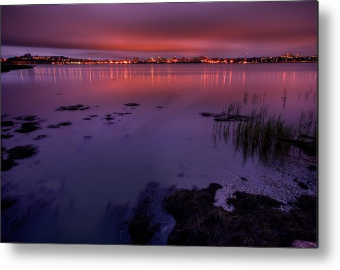 Landscape Metal Print featuring the photograph Back Cove Hdr by Charlie Widdis