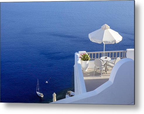 Balcony Metal Print featuring the photograph Balcony Over The Sea by Joana Kruse