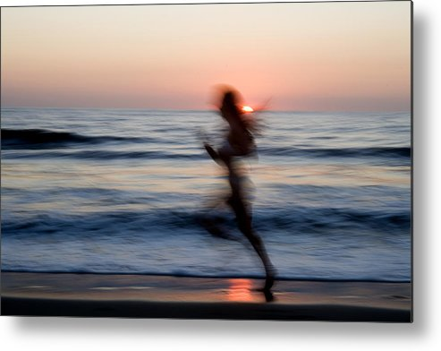 Run Metal Print featuring the photograph Beach Sprint by Brad Rickerby