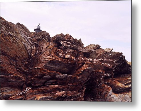 Metal Print featuring the photograph Beavertail Rock Formations by Ashley Knowles