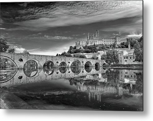 Horizontal Metal Print featuring the photograph Beziers Cathedral by Photograph by Paul Atkinson