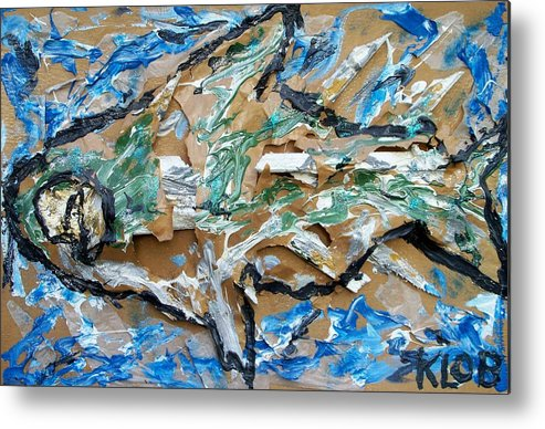 Animal Metal Print featuring the painting Big Fish by Kevin OBrien