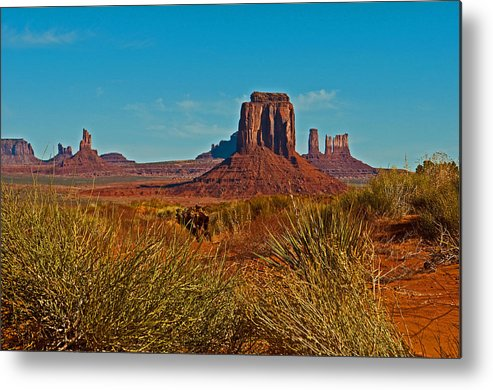 Monument Valley Metal Print featuring the photograph Bigger View by PhyllisAnn Mains