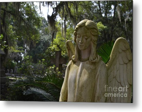 Angel Metal Print featuring the photograph Bonaventure Angel by Randy Edwards