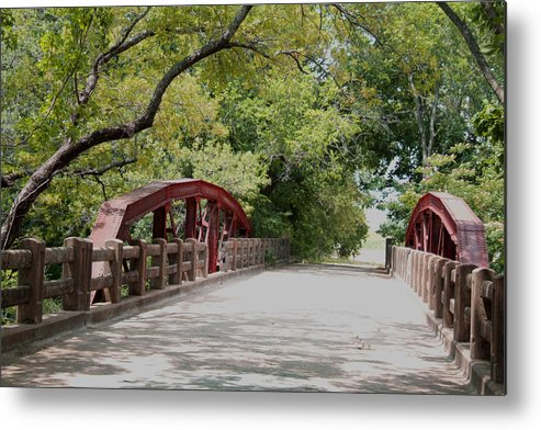 Landscape Metal Print featuring the photograph Bridge 1 by Chuck Shafer