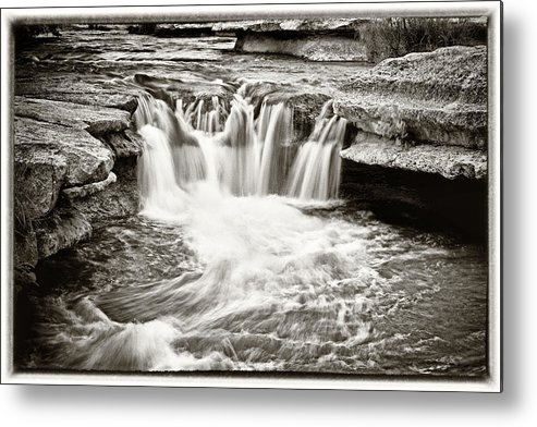 Waterfall Metal Print featuring the photograph Bull Creek Water Run by Lisa Spencer