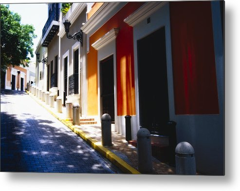 Street Photography Metal Print featuring the photograph Calle Del Sol Old San Juan Puerto Rico by George Oze