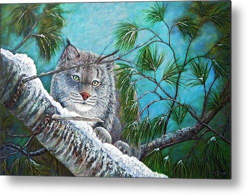 Canada Metal Print featuring the painting Canadian Lynx by Sandy Moser