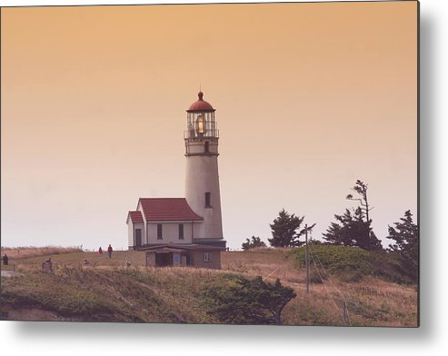 Lighthouse Metal Print featuring the photograph Cape Arago Li 6000 by Mary Gaines