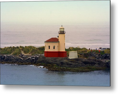 Lighthouses Metal Print featuring the photograph Cape Blanco Lighthouse Li 8000 by Mary Gaines