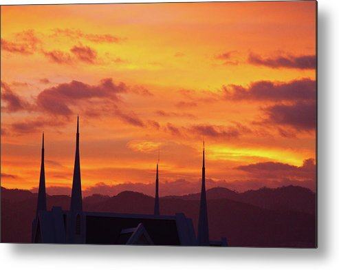 Insogna Metal Print featuring the photograph Cathedral Church Sunset by James BO Insogna