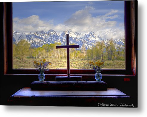 Chapel Metal Print featuring the photograph Chapel With A View by Charles Warren