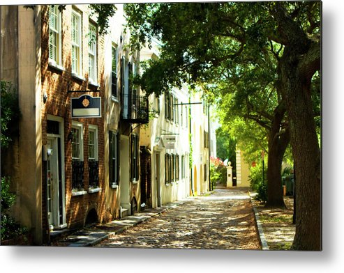 Photo Metal Print featuring the photograph Charleston Streets 2 by Alan Hausenflock