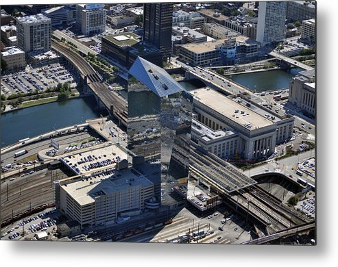 Cira Metal Print featuring the photograph Cira Centre And Amtrak Garage 30th And Arch Streets Philadelphia Pa 19104 by Duncan Pearson
