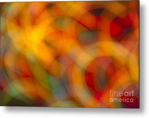 Lights Metal Print featuring the photograph Circular Flow Christmas Abstract by Glenn Gordon