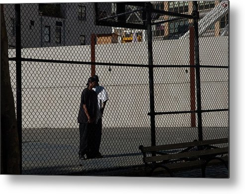 Urban Metal Print featuring the photograph Cityscape With Fences by Denise Adler