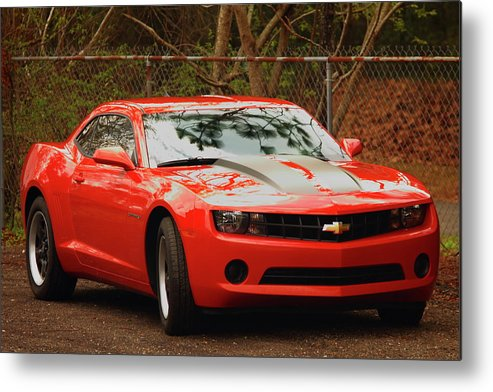 Chevy Camero Metal Print featuring the photograph Classic Orange by Jamie Smith