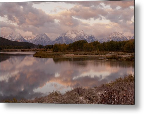 Grand Teton Metal Print featuring the photograph Clearing Storm At Oxbow Bend by Sandra Bronstein