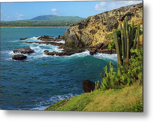 Ocean Metal Print featuring the photograph Coastline-micoud- St Lucia by Chester Williams