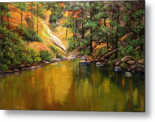 Connie Tom Metal Print featuring the painting Cold Water Creek II by Connie Tom